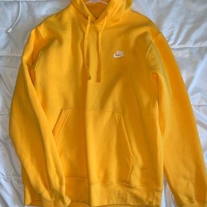 Nike Men's Bright Yellow Hoodie